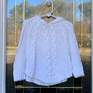 Other - NWOT White cable knit sweater/cape size 24 mos.